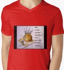 Coffee Art on a card! Men's V-Neck T-Shirt