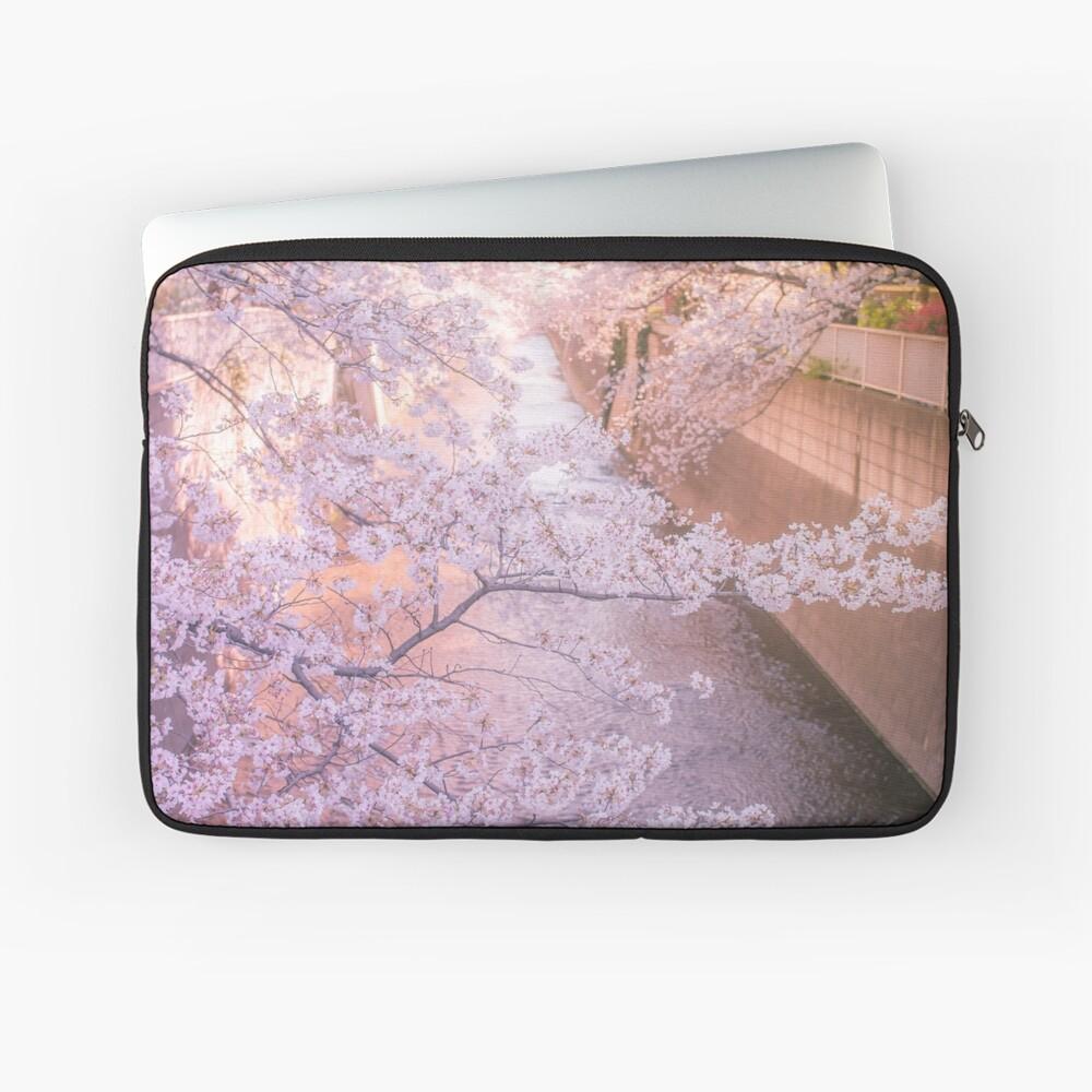 Sakura tree over Kanda Gawa river Laptop Sleeve