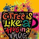 «Pintura de la cita del café» de Nora Gad