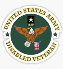US Army Disabled Veteran Shield Sticker