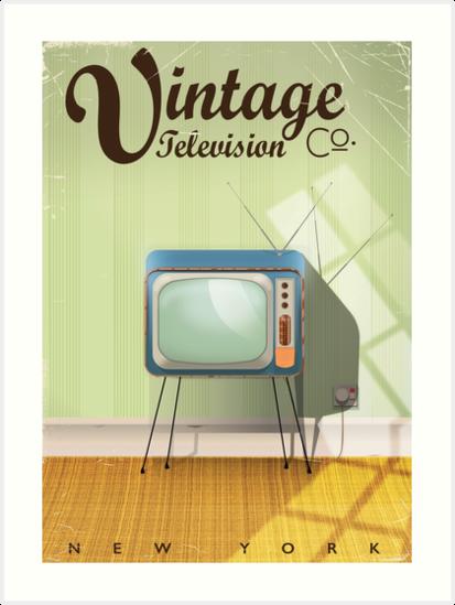 Advert Vintage Retro Television Set Guide Info 12X16 Inch Framed Art Print