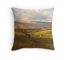 Dent Head Viaduct, Dentdale, Yorkshire Dales Throw Pillow