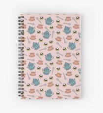 Cream Tea pattern Spiral Notebook