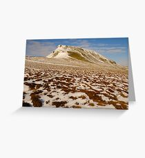 Pen-y-Ghent, Horton-in-Ribblesdale, Ribblesdale, Yorkshire Dales Greeting Card