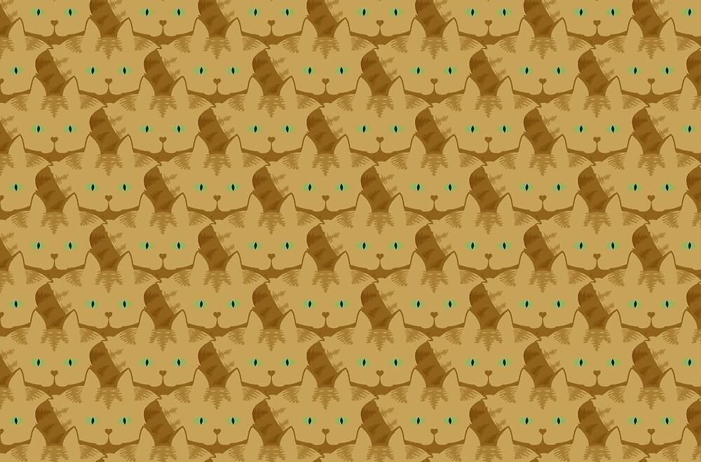 Latté Brown Tabby Cat Cattern [Cat Pattern] by Brent Pruitt