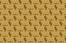 Latté Brown Tabby Cat Cattern [Cat Pattern] by Brent Pruitt