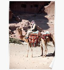 Bedouin and his camels Poster