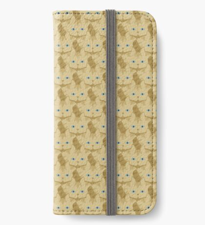 Frappé Brown Tabby Cat Cattern [Cat Pattern] iPhone Wallet