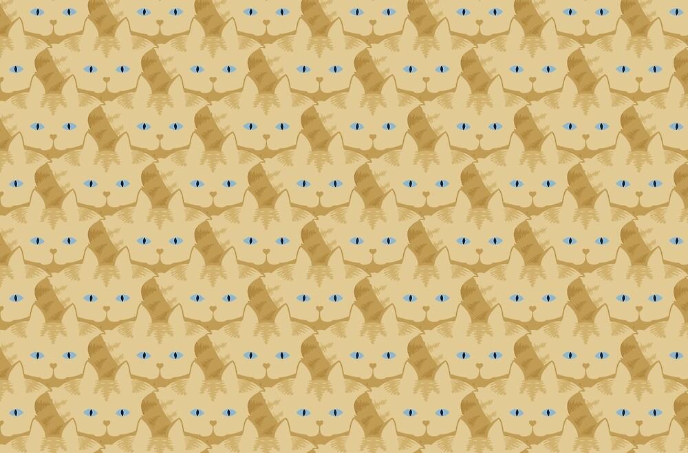 Frappé Brown Tabby Cat Cattern [Cat Pattern] by Brent Pruitt