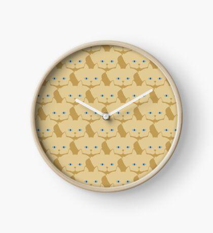 Frappé Brown Cat Cattern [Cat Pattern] Clock
