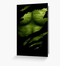 The Incredible Green Super Soldier Greeting Card