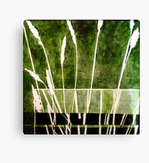 Green Monotype 1 - Printmaking Canvas Print