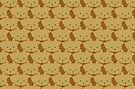 Latté Brown Cat Cattern [Cat Pattern] by Brent Pruitt