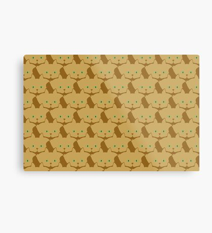 Latté Brown Cat Cattern [Cat Pattern] Metal Print