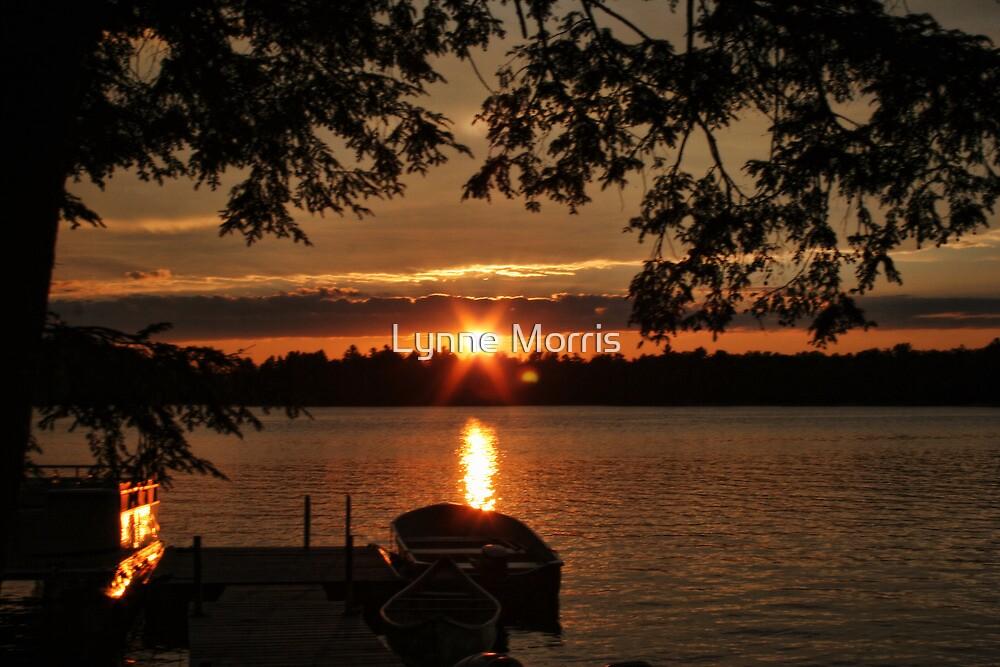 Sunset Over Crystal Lake by Lynne Morris