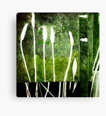 Green Monotype 2 -Printmaking Canvas Print