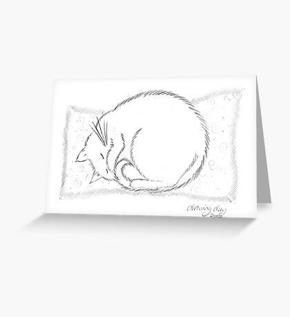 Snoozing Socks Greeting Card