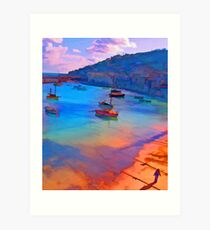 Mousehole Harbor, Cornwall - UK Art Print