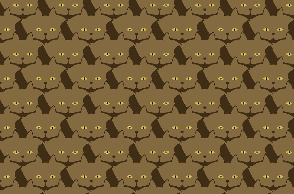 Cocoa Brown Cat Cattern [Cat Pattern] by Brent Pruitt