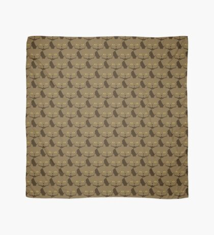 Cocoa Brown Cat Cattern [Cat Pattern] Scarf