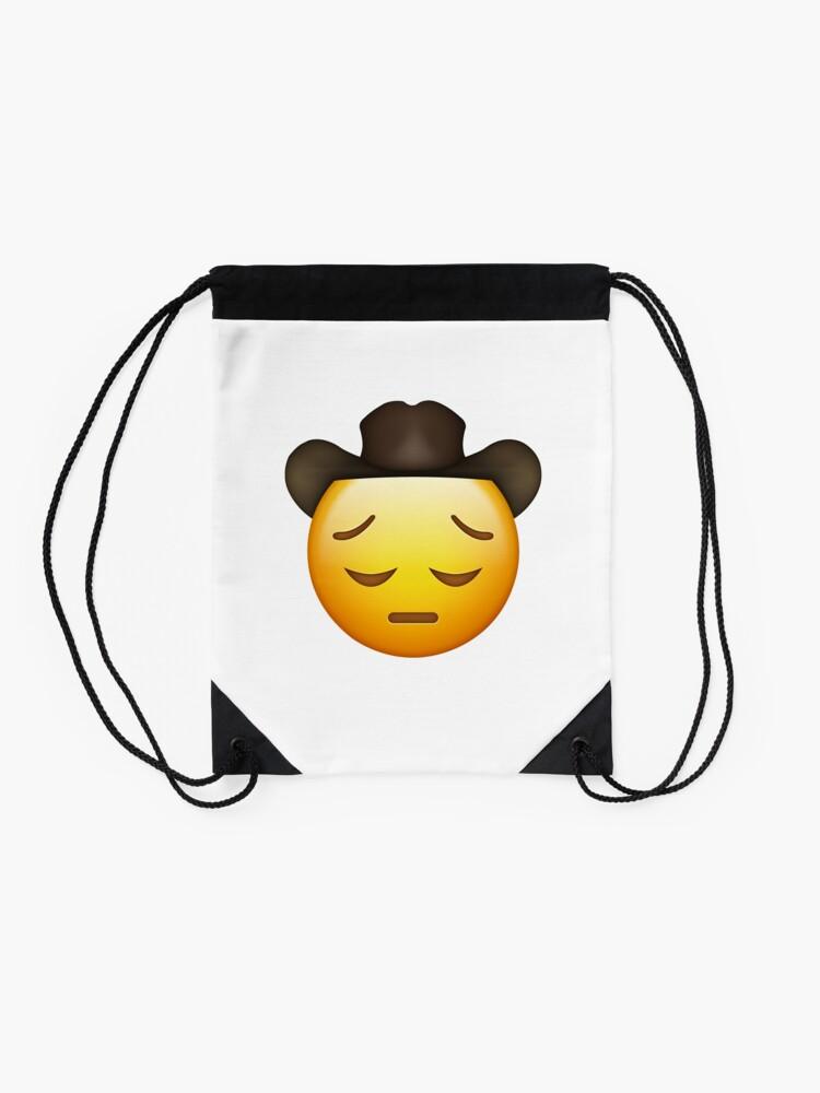 Alternative Ansicht von Trauriger Cowboy Emoji Turnbeutel
