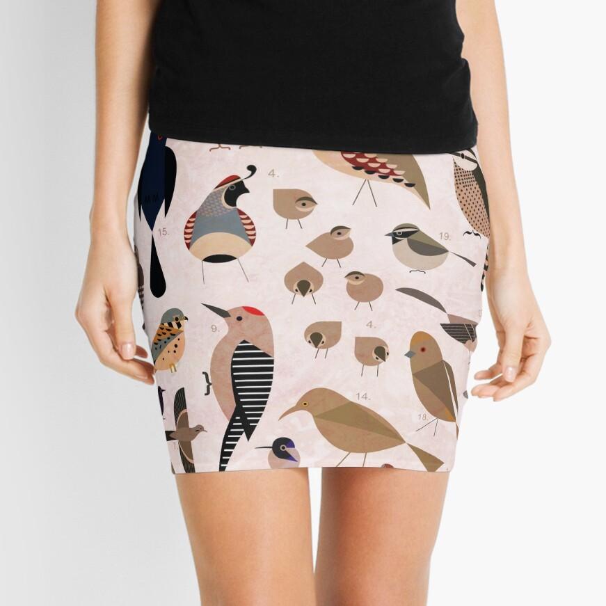 Sonoran Birds Mini Skirt