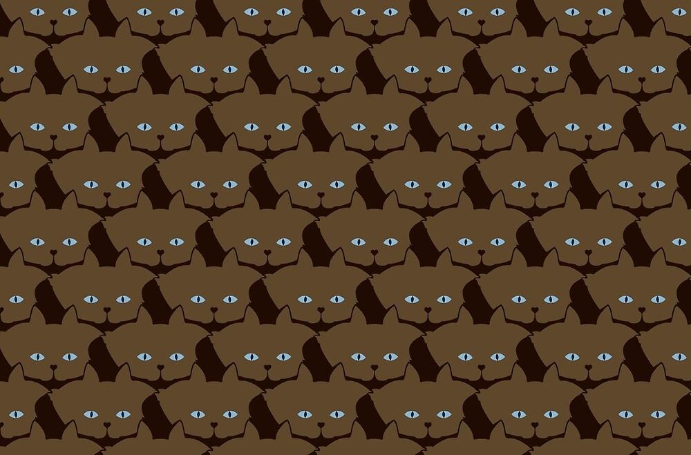 Chai Brown Cat Cattern [Cat Pattern] by Brent Pruitt