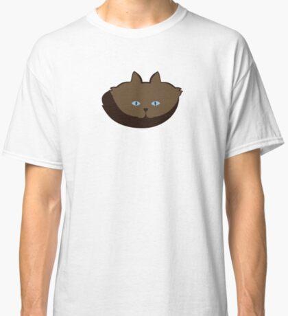 Chai Brown Cat Cattern [Cat Pattern] Classic T-Shirt