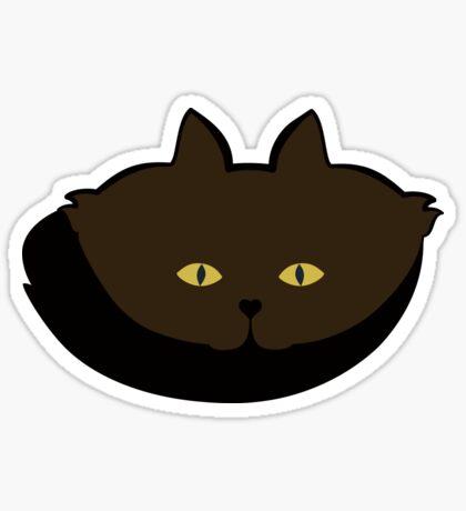 Mocha Brown Cat Cattern [Cat Pattern] Sticker
