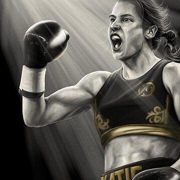 Katie Taylor Irish boxer by barrymasterson