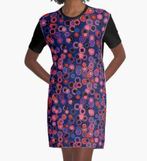 Happy Patterns Blue Dreams Graphic T-Shirt Dress