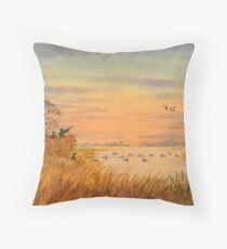 Duck Hunters Calling Throw Pillow