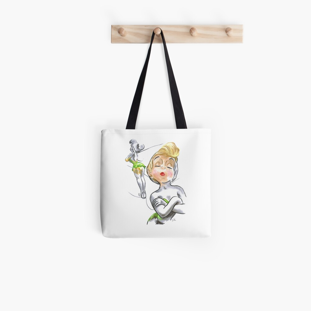 Charcoal and Oil - Tinker Bell Tote Bag