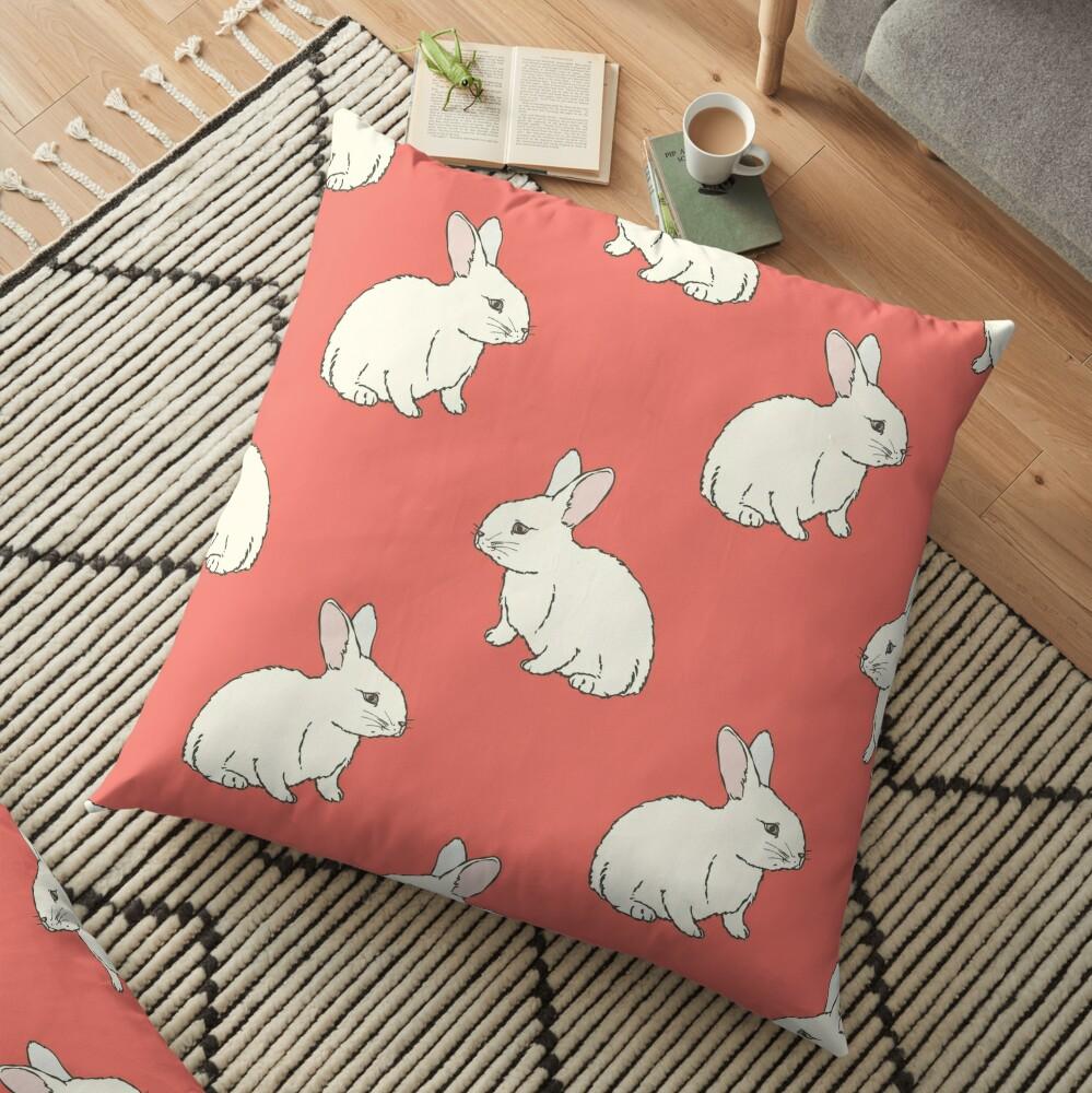 White Rabit Floor Pillow