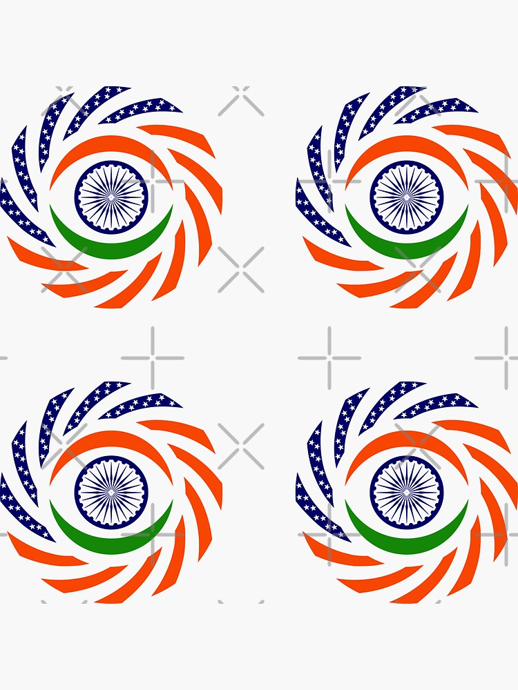 Indian American Multinational Patriot Flag Series by carbonfibreme