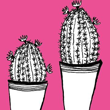 Cactus 63 black & white von RanitasArt