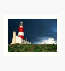 Agulhas lighthouse Art Print