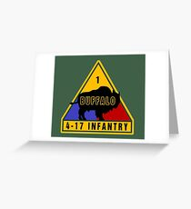 4th Battalion 17th Infantry Regiment (US Army) Greeting Card