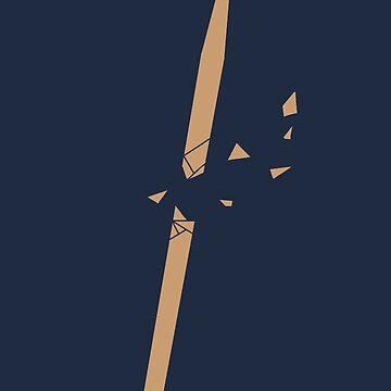 Gebrochener Drumstick von Rocket-To-Pluto