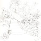 Garden Stairs sketch drawing day by KMorral