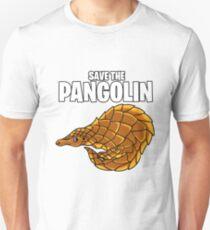 Pangolin Schuppentier Retten Selten Slim Fit T-Shirt