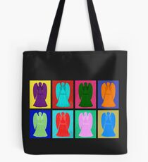 Weeping angels Pop Art Colour Tote Bag
