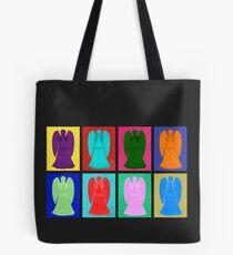 Weeping angels Pop Art Colour Tote Bag