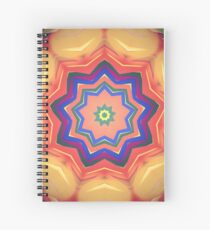 Here Comes the Sun Mandala Art - Yoga Lover Gift Spiral Notebook