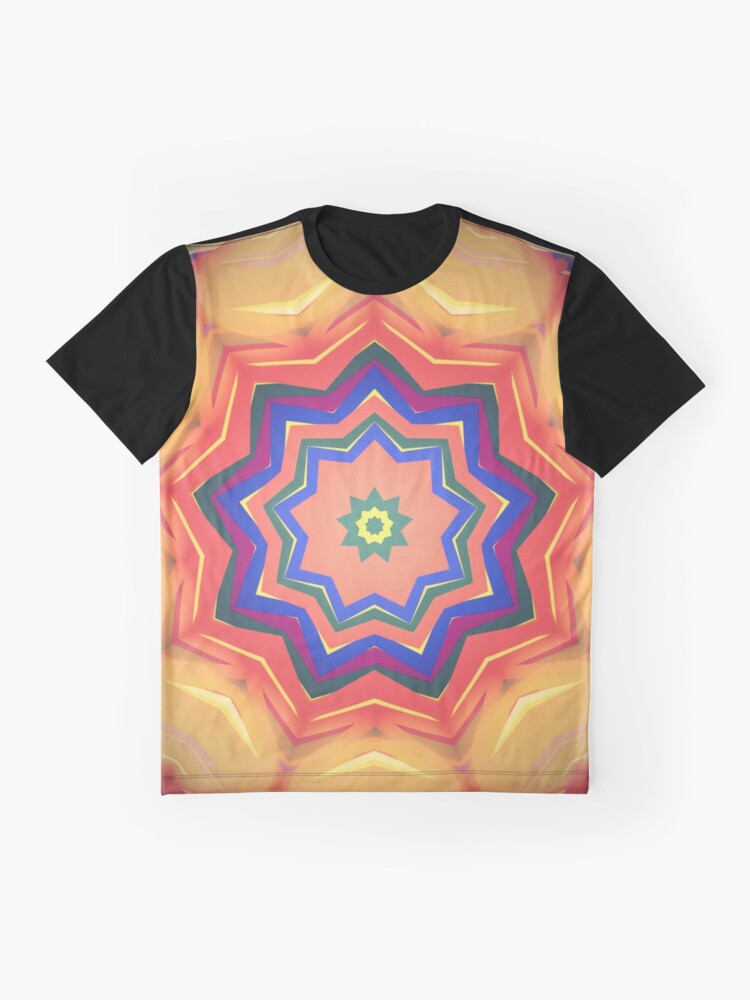 Alternate view of Here Comes the Sun Mandala Art - Yoga Lover Gift Graphic T-Shirt