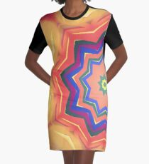 Here Comes the Sun Mandala Art - Yoga Lover Gift Graphic T-Shirt Dress