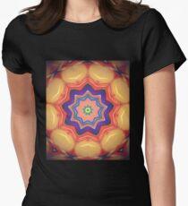 Here Comes the Sun Mandala Art - Yoga Lover Gift Women's Fitted T-Shirt