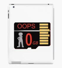 Memory Card Failure iPad Case/Skin