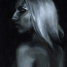 Sarah 2, Ölgemälde auf Leinwand von Amanda Irene