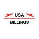 Billings Montana USA Airport Plane Light-Color by TinyStarAmerica